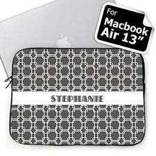 Custom Name Grey Links MacBook Air 13 Sleeve