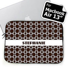 Custom Name Chocolate Links MacBook Air 13 Sleeve