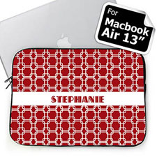 Custom Name Red Links MacBook Air 13 Sleeve