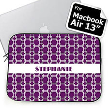 Custom Name Purple Links MacBook Air 13 Sleeve