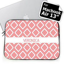 Custom Name Pink Lkat MacBook Air 13 Sleeve