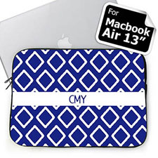 Custom Initials Blue Lkat Macbook Air 13 Sleeve