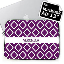Custom Name Purple Lkat Macbook Air 13 Sleeve