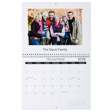 Personalized Simply White, Large Wall Calendar (14
