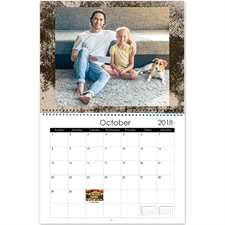 Personalized Modern Texture, Large Wall Calendar (14