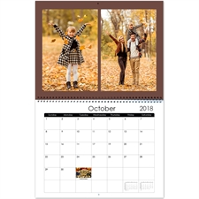 Personalized Raw, Large Wall Calendar (14