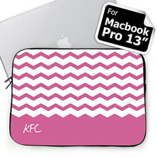 Personalized Initials Lavender Chevron Macbook Pro 13 Sleeve (2015)