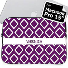 Custom Name Purple  Macbook Pro 15 Sleeve (2015)