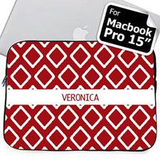 Custom Name Red Lkat Macbook Pro 15 Sleeve (2015)