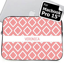 Custom Name Pink Lkat Macbook Pro 15 Sleeve (2015)