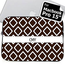 Custom Initials Chocolate Lkat Macbook Pro 15 Sleeve (2015)