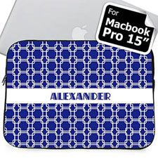 Custom Name Blue Links Macbook Pro 15 Sleeve (2015)