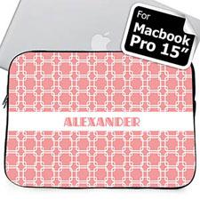 Custom Name Pink Links Macbook Pro 15 Sleeve (2015)