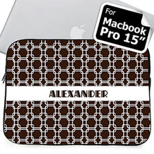 Custom Name Chocolate Links Macbook Pro 15 Sleeve (2015)