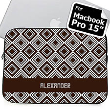 Custom Name Chocolate Diamonds MacBook Pro 15 Sleeve