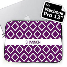 Custom Name Purple Lkat Macbook Pro 13 Sleeve (2015)