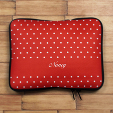 Personalized Name Red Polka Dots Ipad Sleeve