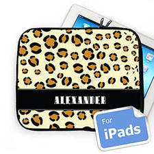 Custom Name Leopard Pattern Ipad Sleeve