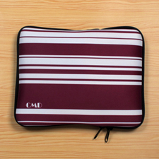 Personalized Initial Purple Stripes Ipad Sleeve