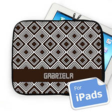 Custom Name Chocolate Diamonds Ipad Sleeve