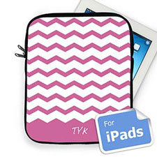 Custom Initials Lavender Chevron Ipad Sleeve