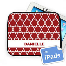 Custom Name Red Hoopla Ipad Sleeve