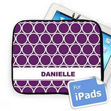 Custom Name Purple Hoopla Ipad Sleeve