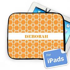 Custom Name Orange Links Ipad Sleeve