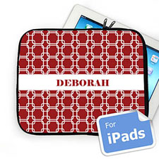 Custom Name Red Links Ipad Sleeve