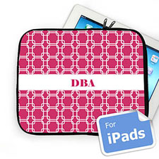 Custom Initials Hot Pink Links Ipad Sleeve