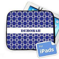 Custom Name Blue Links Ipad Sleeve