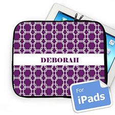 Custom Name Purple Links Ipad Sleeve