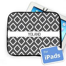 Custom Name Grey Lkat Ipad Sleeve