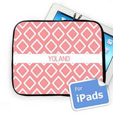 Custom Name Pink Lkat Ipad Sleeve