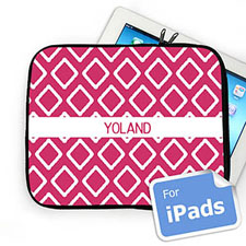 Custom Name Hot Pink Lkat Ipad Sleeve