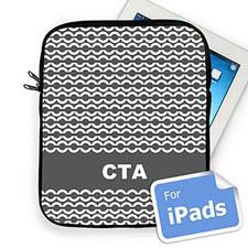Custom Initials Grey Chain Ipad Sleeve