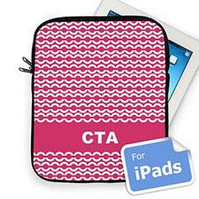 Custom Initials Hot Pink Chain Ipad Sleeve