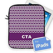 Custom Initials Purple Chain Ipad Sleeve