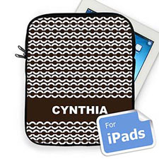 Custom Name Chocolate Chain Ipad Sleeve