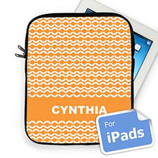 Custom Name Orange Chain Ipad Sleeve
