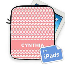 Custom Name Pink Chain Ipad Sleeve