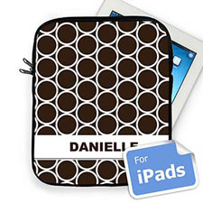 Custom Name Chocolate Hoopla Ipad Sleeve