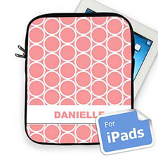 Custom Name Pink Hoopla Ipad Sleeve