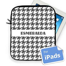 Custom Name Grey Hounds Tooth Ipad Sleeve