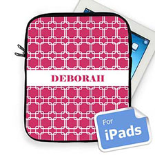 Custom Name Hot Pink Links Ipad Sleeve
