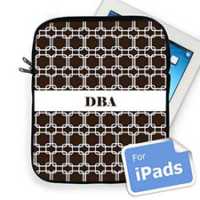 Custom Initials Chocolate Links Ipad Sleeve