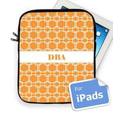 Custom Initials Orange Links Ipad Sleeve