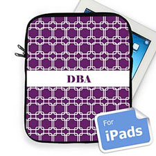 Custom Initials Purple Links Ipad Sleeve
