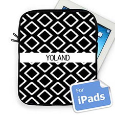 Custom Name Black Lkat iPad Sleeve