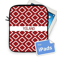Custom Name Red Lkat iPad Sleeve